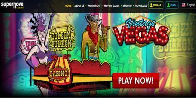 supernova casino website page